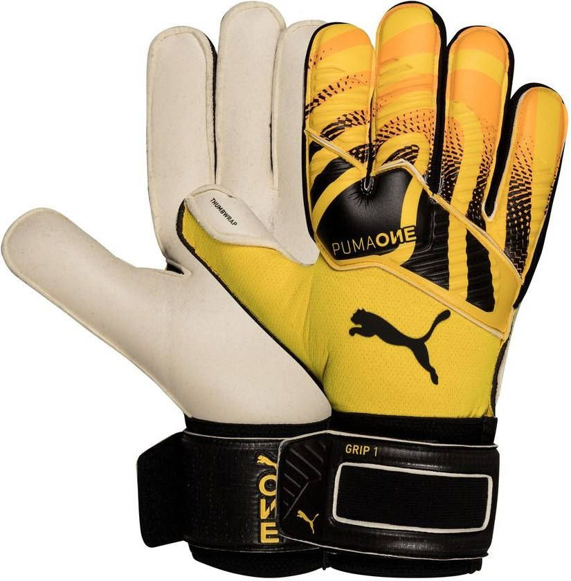 PUMA Keepershandschoenen One Grip 1 RC Spark Geel/Zwart/Wit online kopen